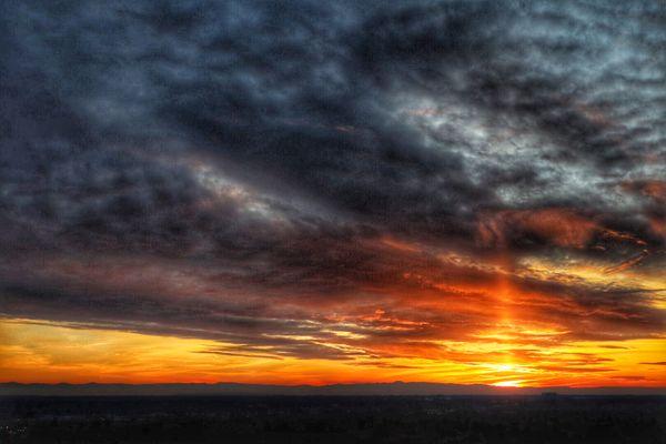 Sunset looking across Treasure Valley in Boise, Idaho. thumbnail