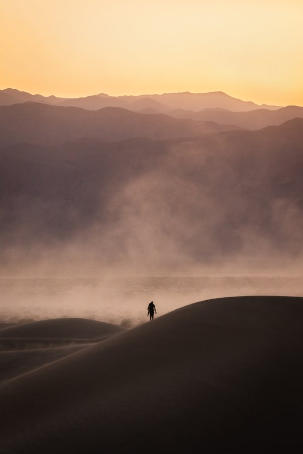 Dust Storm at Death Valley National Park thumbnail