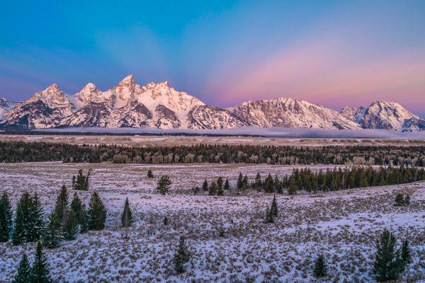 Sunrise on the Grand Tetons thumbnail