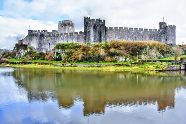 Castle Reflections in Wales thumbnail