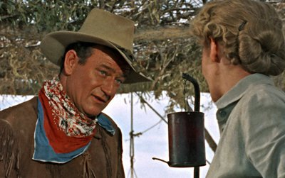 John Wayne and Geraldine Page in Hondo