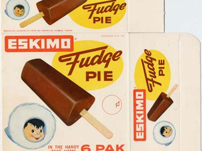 An undated box that originally held Eskimo Fudge Pies.