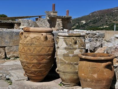The master female ceramicist likely created large vases, known as pithoi, similar to these