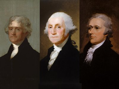 Jefferson, Washington and Hamilton came together during Washington's tenure as president and worked, fought, compromised—and wrote—in the struggle to establish a nation.