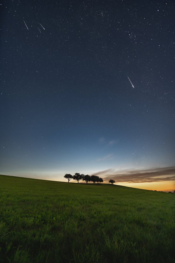 Perseids over the field thumbnail