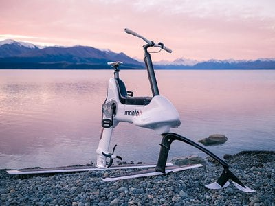Rumor has it the Manta5 Hydrofoil Bike is extremely fun to ride.