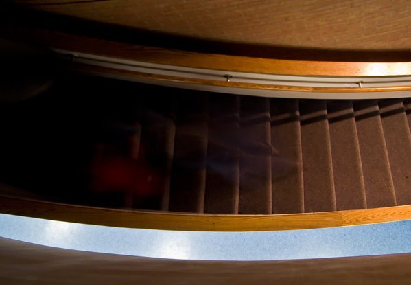 Up the down staircase at the Maryland Science Center. thumbnail