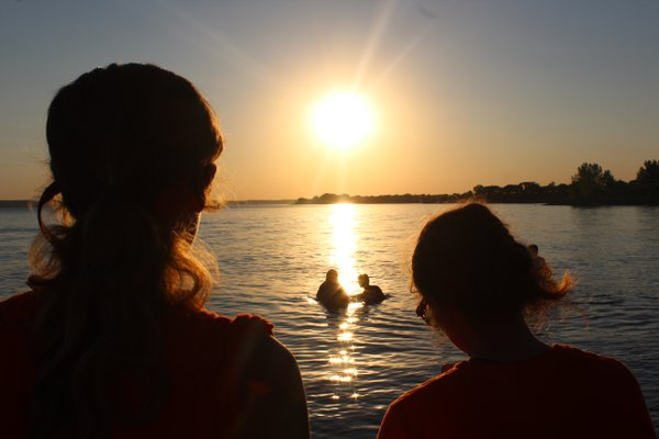 Baptism in the sunset thumbnail