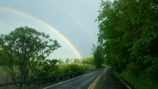 Double rainbow while fishing the lake thumbnail
