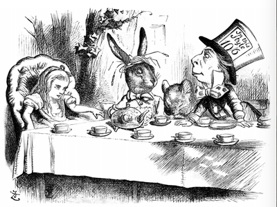 John Tenniel's illustration of Lewis Carroll's Alice's Adventures in Wonderland