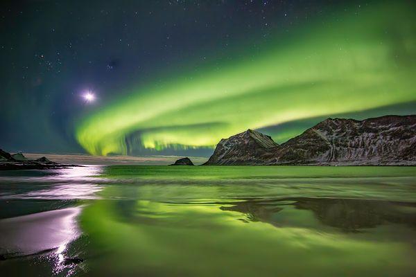 Moon Over Northern Lights thumbnail