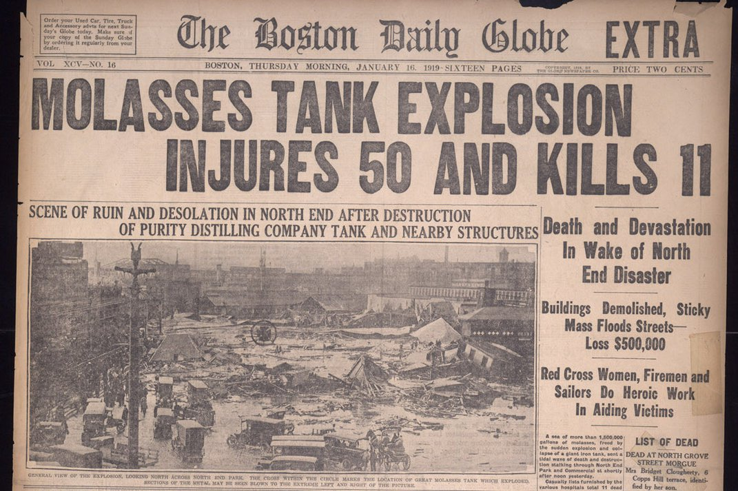 Without Warning, Molasses Surged Over Boston 100 Years Ago