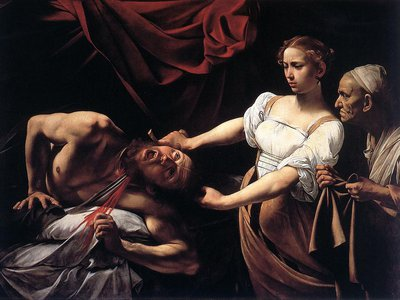 """The unabashed depiction of violence seen in Caravaggio's """"Judith Beheading Holofernes"""" underscores its creator's bestial inclinations"""