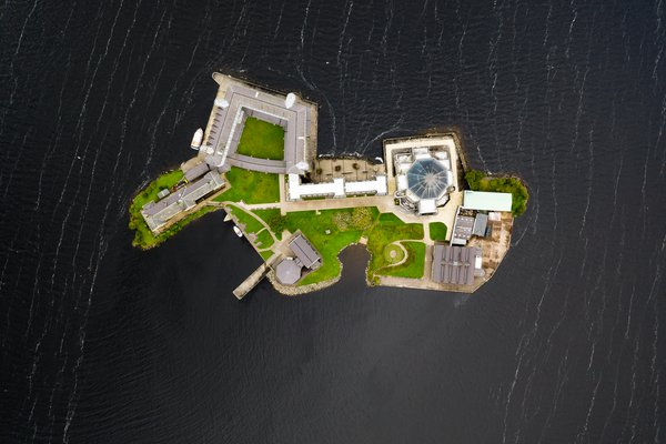 Spiritual traveling - Modern pilgrimage in an ancient pilgrimage site on Station Island, Ireland. thumbnail