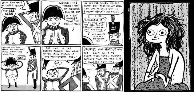 Napoleon comic and Kate Beaton portrait