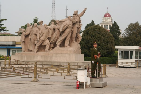 Standing Guard in Tiananmen Square thumbnail