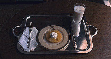 Richard Nixon's last meal at the White House. Photo by Robert L. Knudsen