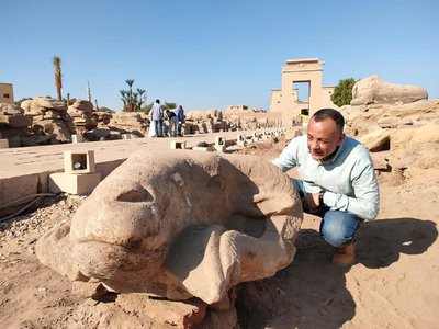 Authorites plan to reattach the heads to statues along the famed Avenue of Sphinxes.
