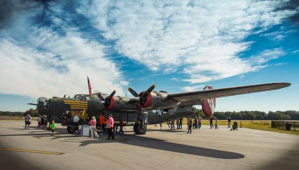 A B-24 bomber on display. thumbnail