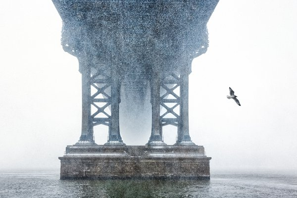 Blizzard over the Manhattan Bridge thumbnail