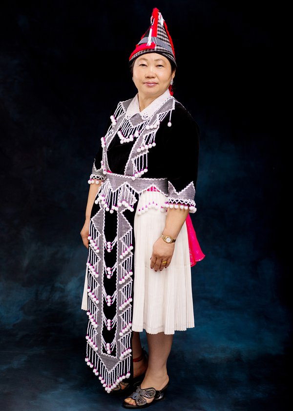 Portrait of Hmong Woman In Traditional Outfit thumbnail