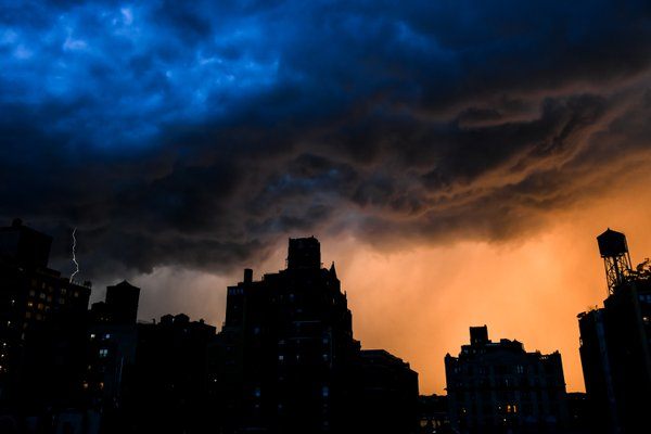A sunset interrupted by a thunderstorm thumbnail