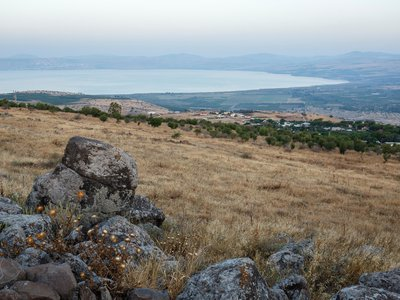 Overlooking the Sea of Galilee, Bethsaida was a day's walk from Nazareth. When Jesus returned to his boyhood hometown to preach, the Gospels say he was rejected by a mob.