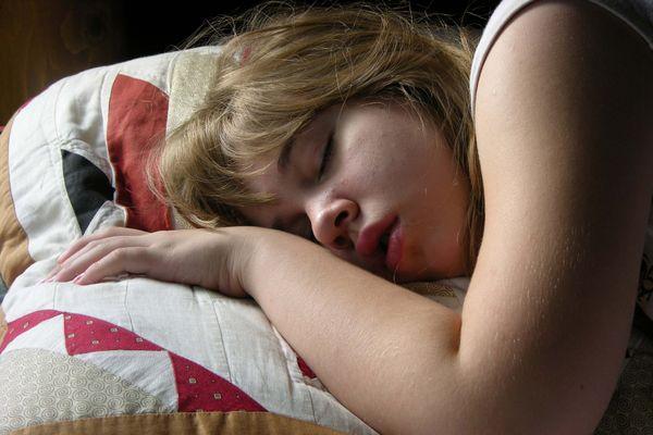 Sleeping in late at a lake cabin. thumbnail