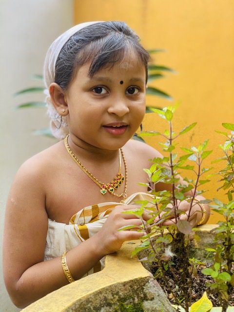 Little kerala beauty in traditional attire and jewellery thumbnail