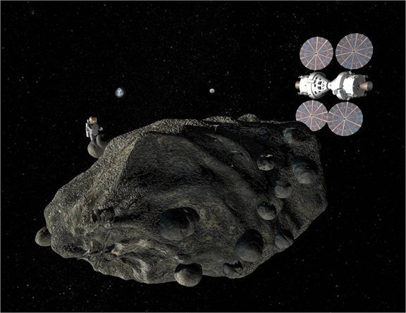 People at an asteroid: What will they do there?
