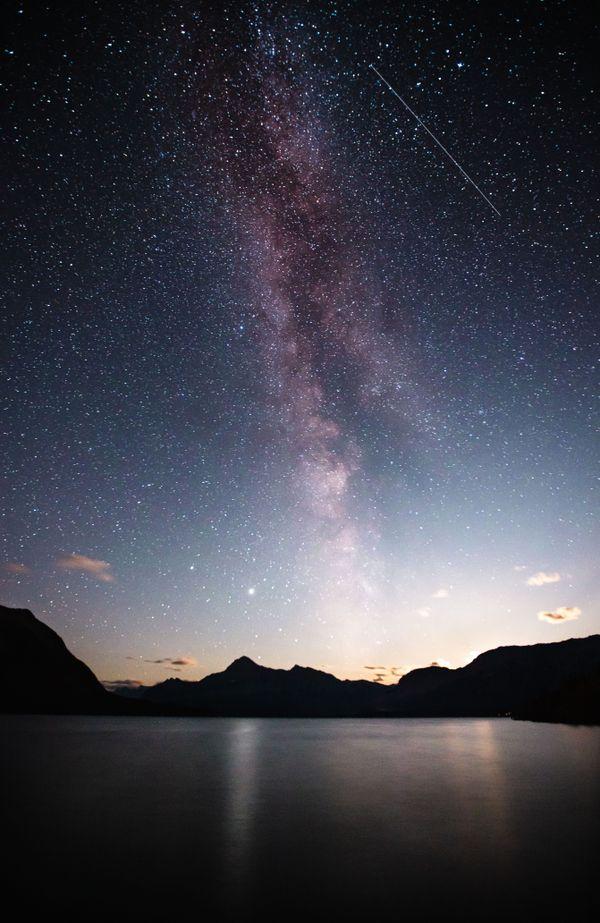 The Milky Way over Abraham Lake thumbnail