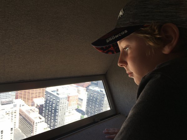 Thinking, atop the St. Louis Arch thumbnail