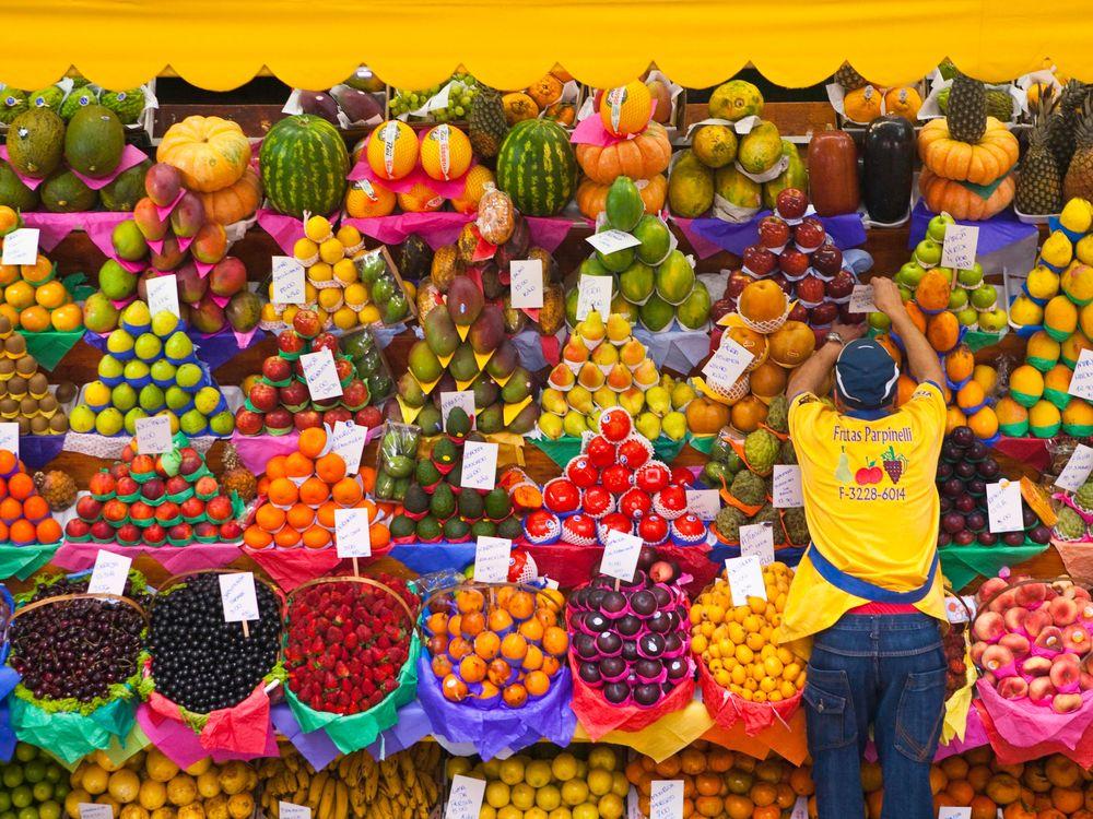organized fruit vendor