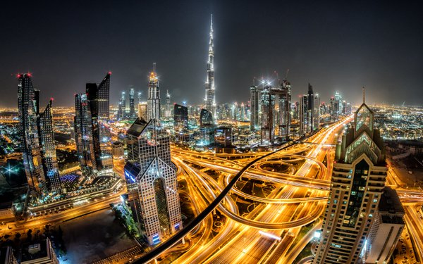 Dubai Night Cityscape thumbnail