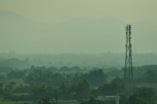 Foggy morning view from side of Bangan Hill. thumbnail