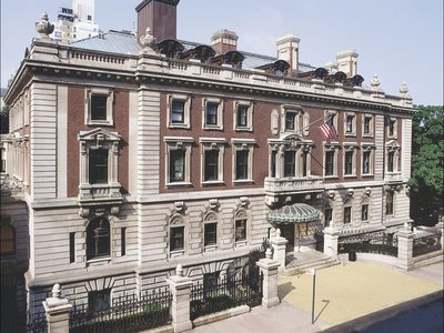"""Andrew Carnegie built his mansion on the corner of Fifth Avenue and 91st Street, asking for the """"most modest, plainest, and most roomy house in New York."""""""