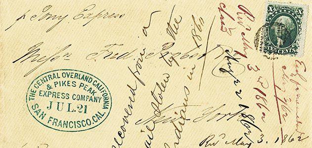 Pony Express letter
