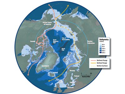 With the recent opening of the Northwest Passage in the Arctic due to melting sea ice barriers, Smithsonian research biologist Seabird McKeon and his team report increasing numbers of animals making the journey into new territories.
