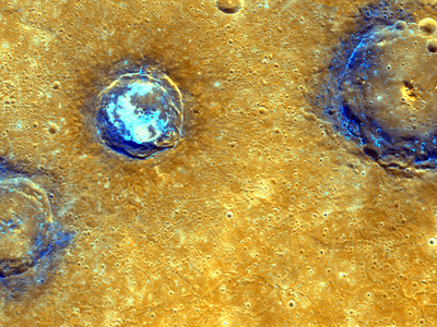 Mercury's Munch crater, as viewed by the MESSENGER probe.