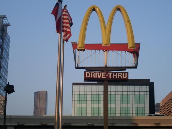 Hurricane Ike hits McDonalds. Taken with an Argus Bean. thumbnail