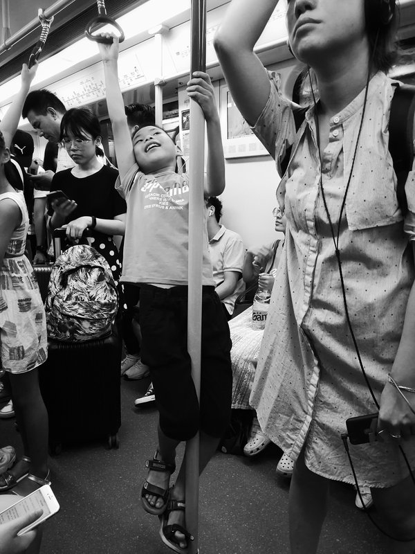 Pole dancing in the subway thumbnail