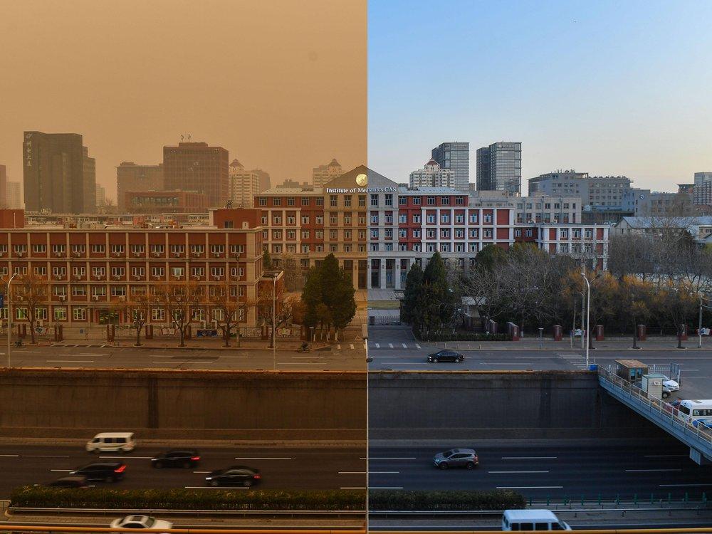 Beijing sky difference