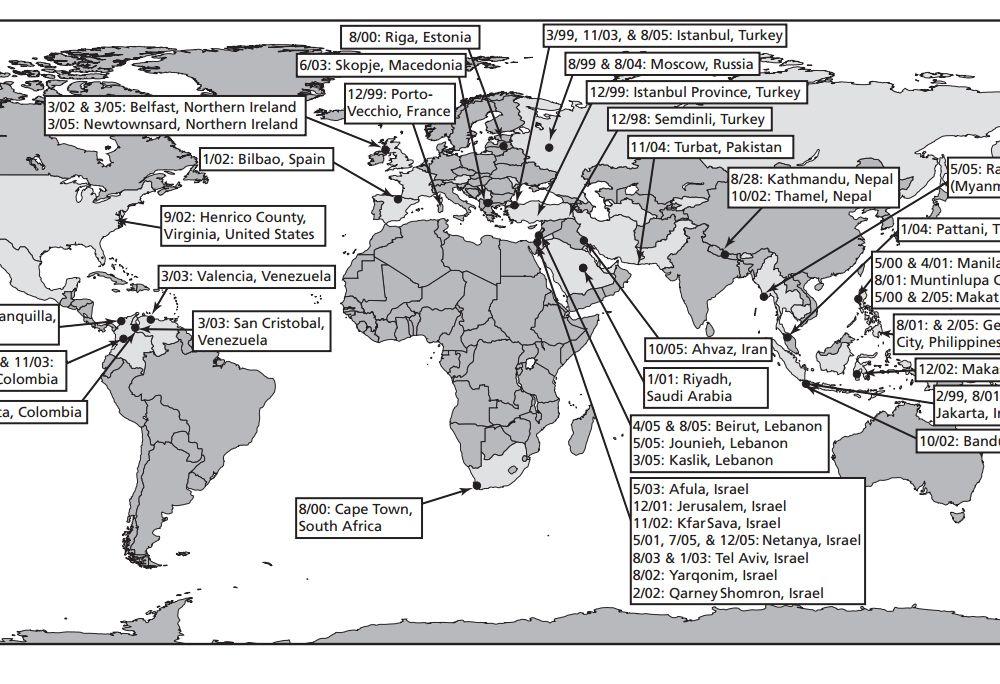 """Terrorist attacks at shopping centers, 1998 – 2005"""