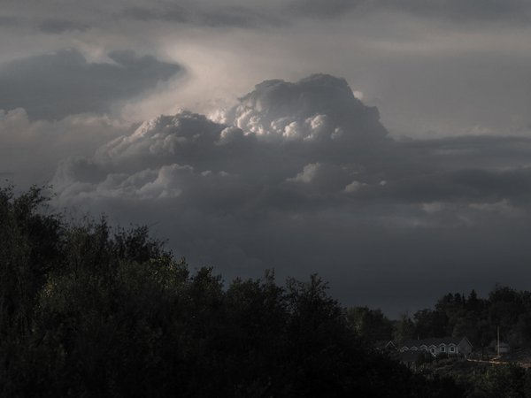 Summer Storm Approaching Denver Suburb thumbnail