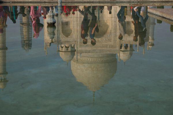 Water Mirror at Taj Mahal thumbnail