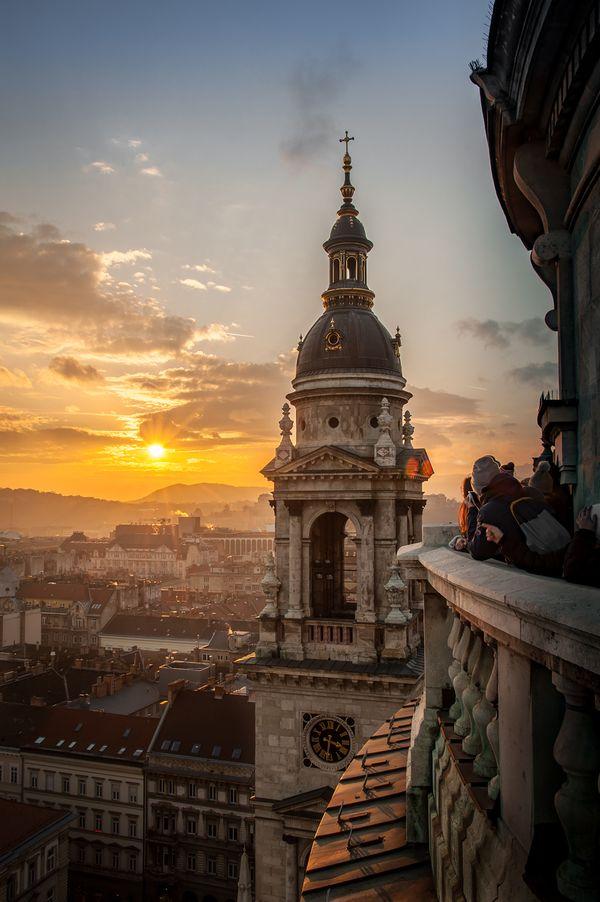 Sunset in Budapest. thumbnail