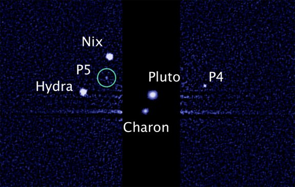 Hubble telescope image from July 7, 2012 showing Pluto's moon P5