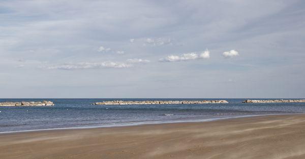 Pesaro beach during a windy day thumbnail