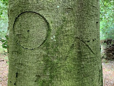 This circular witches' mark was thought to ward off evil.