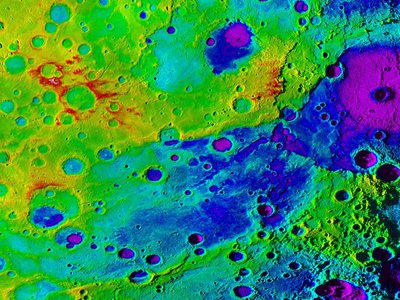Mercury's Great Valley is the dark blue stripe across the center of the image.